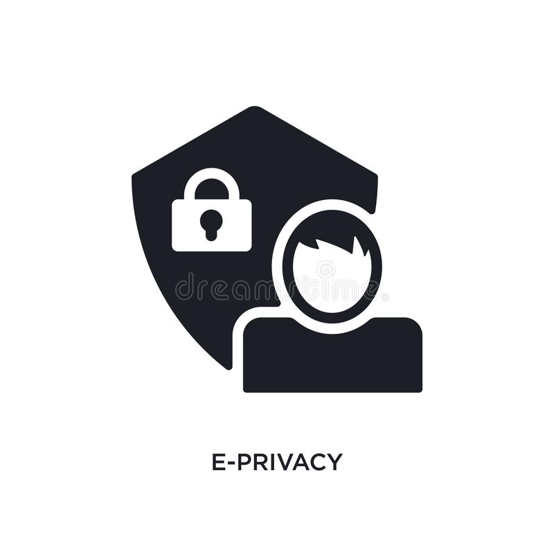 e-privacy isolated icon. simple element illustration from general-1 concept icons. e-privacy editable logo sign symbol design on royalty free illustration