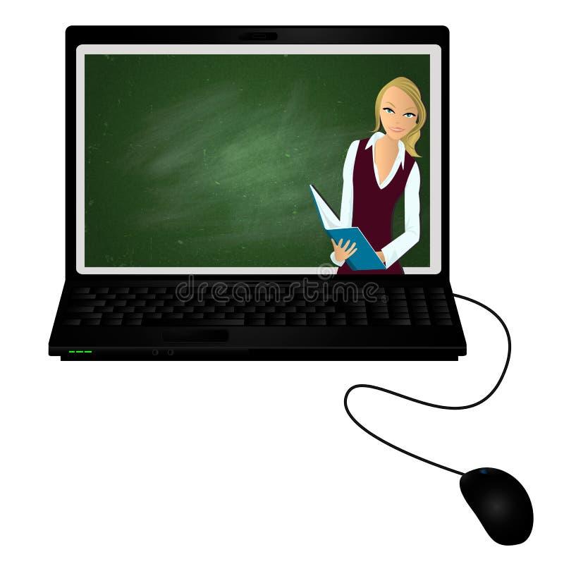 E-profesor particular ilustración del vector