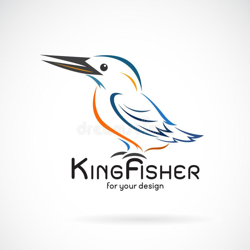 E Progettazione dell'uccello r Vettore stratificato editabile facile illustrazione di stock