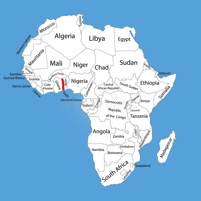 E Programma Editable dell'Africa illustrazione vettoriale
