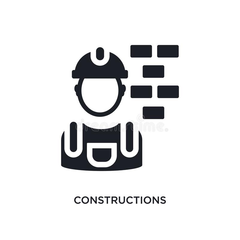 E prosta element ilustracja od budowy pojęcia ikon r ilustracja wektor