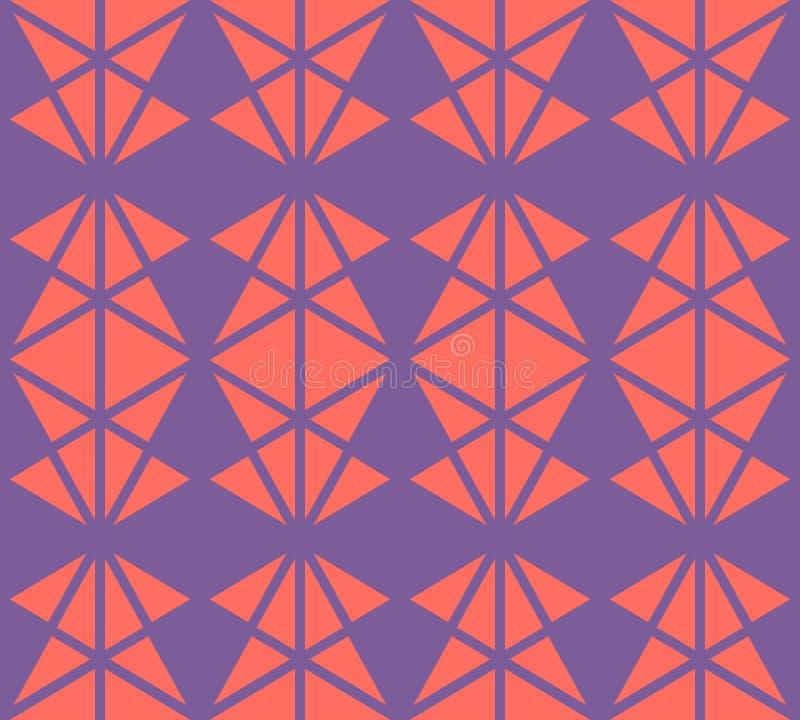 E Purple en koraal stock illustratie