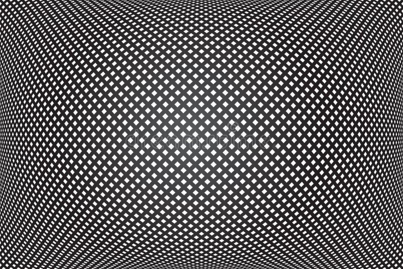 Трехмерный проверенный шаблон Сверка геометрической текстуры Абстрактный черный фон иллюстрация штока