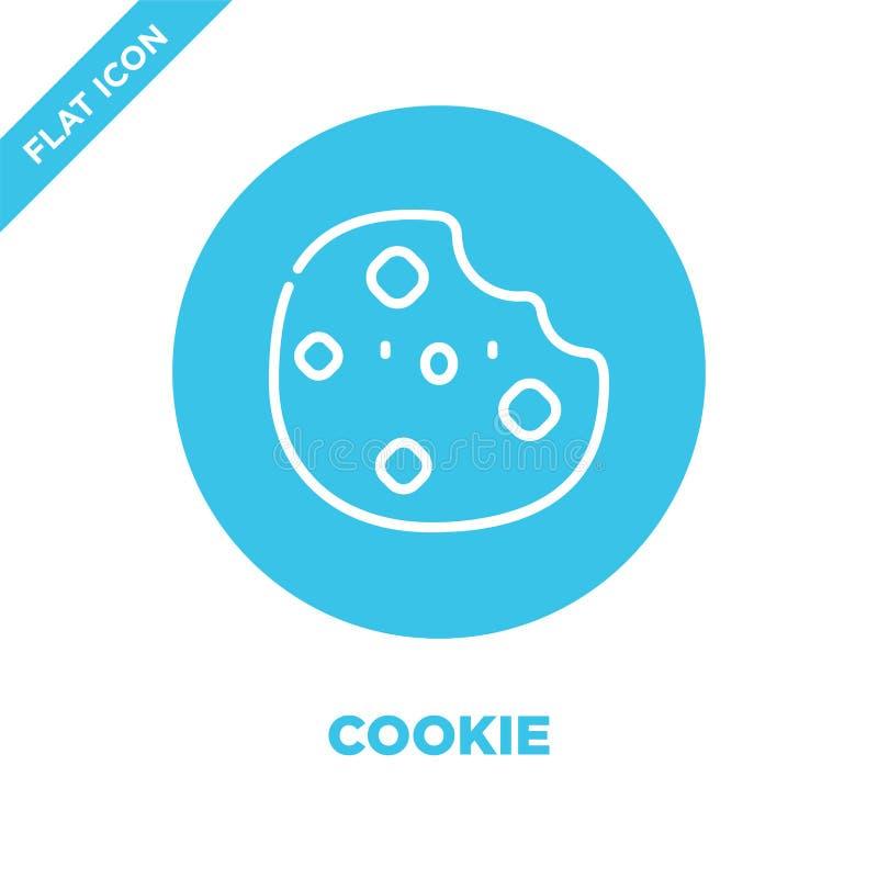 διάνυσμα εικονιδίου cookie από λήψη Εικόνα διανυσματικού εικονιδίου πλαισίου με λεπτή γραμμή Γραμμικό σύμβολο για χρήση στο διαδί ελεύθερη απεικόνιση δικαιώματος