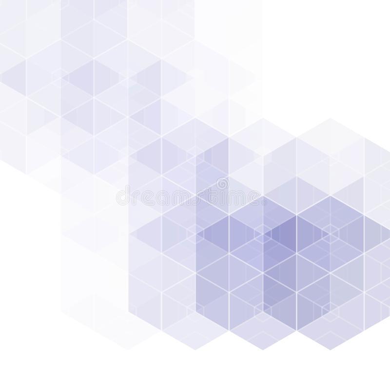 Γεωμετρικό φόντο αφηρημένων διανυσμάτων Σχέδιο εντύπου Μπλε εξάγωνο σχήμα eps 10 διανυσματική απεικόνιση
