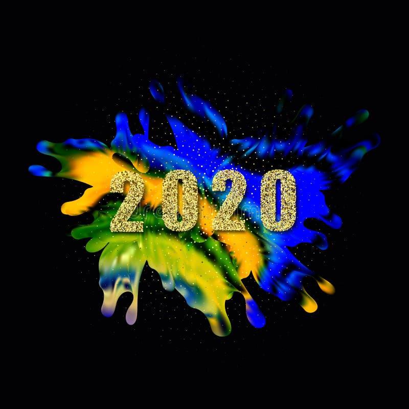 Σύγχρονη πολύχρωμη αφίσα ροής Φόντο χρώματος σχήματος κυματομορφής υγρού Σχεδίαση γραφικών για το σχέδιο σας Εικόνα διανύσματος διανυσματική απεικόνιση