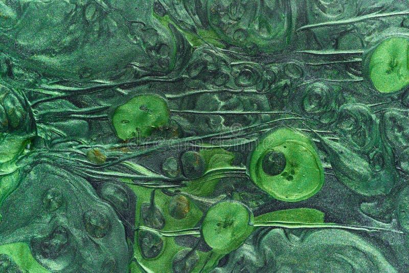 E r r 绿色液体丙烯酸漆 免版税图库摄影