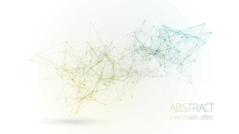 Bakgrund till den geometriska konstruktionskontakter som är kopplade till en abstrakt vektorlinje Minimalistisk geometrisk strukt stock illustrationer
