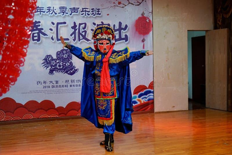 Уникальные навыки Сычуанской оперы стоковые фото