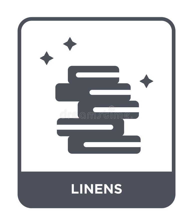 linens pictogram in trendy ontwerpstijl linens pictogram geïsoleerd op witte achtergrond linens vectorpictogram eenvoudig en mode royalty-vrije illustratie