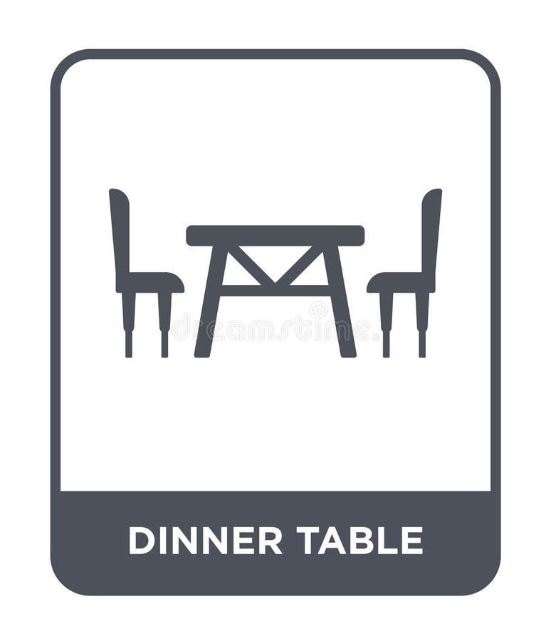 tafelpictogram in trendy design het pictogram van de dineringstafel geïsoleerd op witte achtergrond het vectorpictogram van de di vector illustratie
