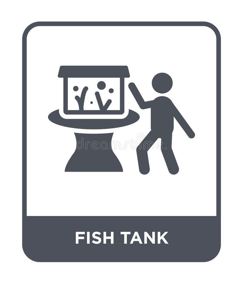 pictogram van de vistank in trendy ontwerpstijl pictogram van de visbak geïsoleerd op witte achtergrond vectorikoon van de vistan vector illustratie