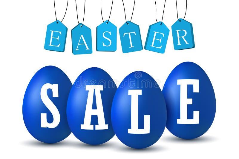 Verkoop van paaseitekst Happy Easter-eitjes 3D-sjabloon geïsoleerd op witte achtergrond Ontwerpbanner, wensposter vector illustratie