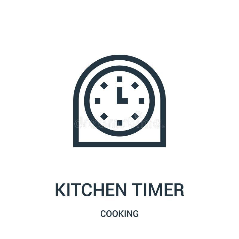 διάνυσμα εικονιδίου χρονομέτρου κουζίνας από συλλογή μαγειρικής Εικόνα διανυσματικού εικονιδίου περιγράμματος κουζίνας με λεπτή γ απεικόνιση αποθεμάτων