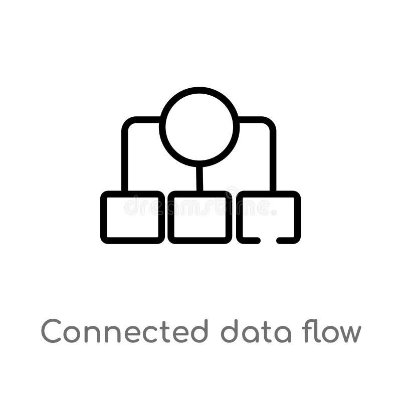 E изолированная черная простая линия иллюстрация элемента от концепции пользовательского интерфейса бесплатная иллюстрация