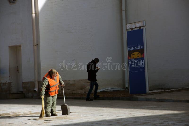 大扫除在克里姆林宫 免版税库存图片