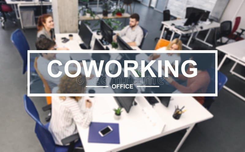 工作在现代办公室的年轻企业队 库存图片