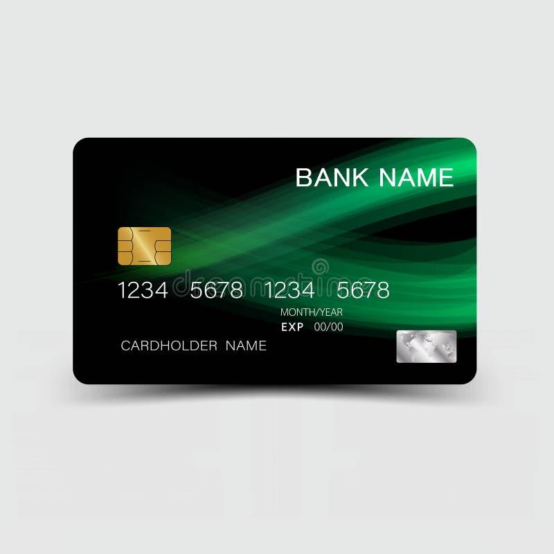 信用卡设计 皇族释放例证
