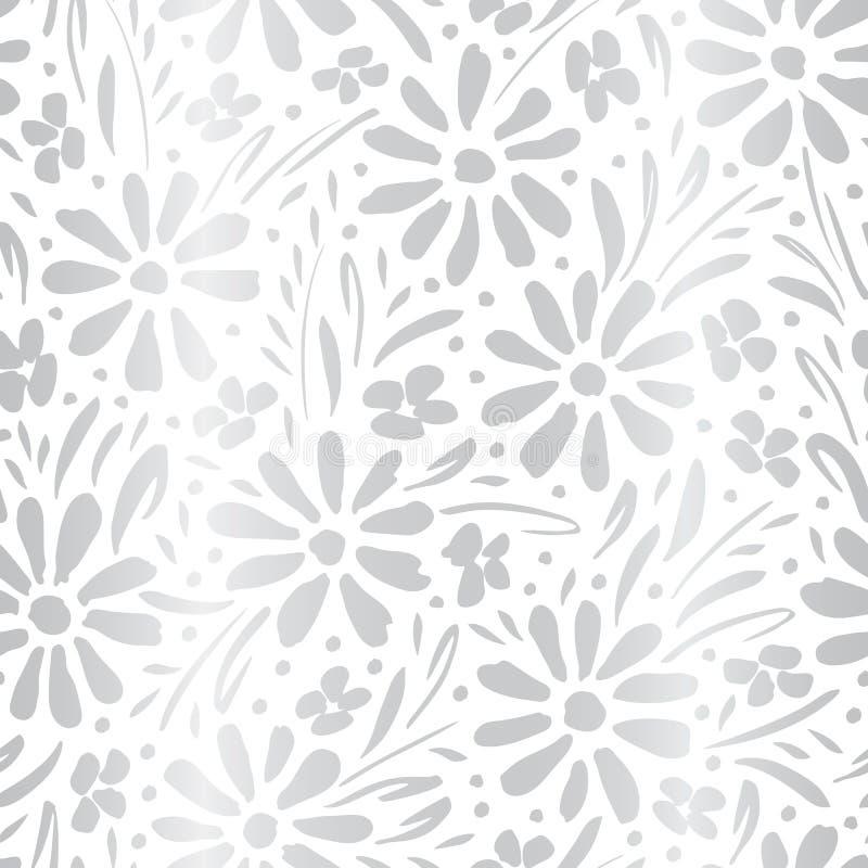 E 花卉图案 向量例证