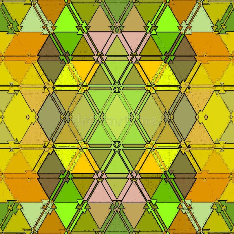 E 五颜六色的马赛克背景 向量例证
