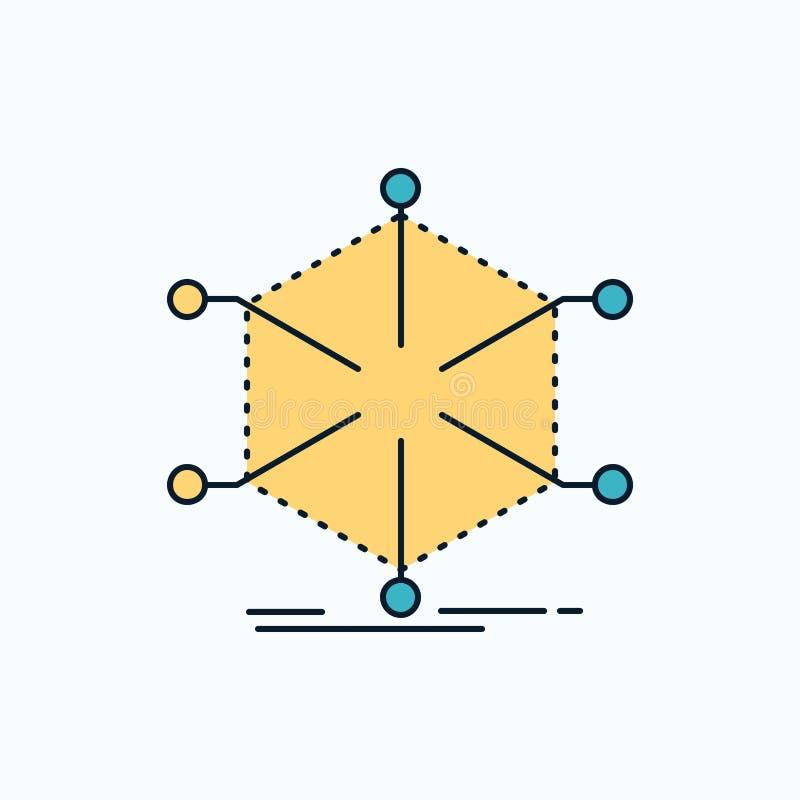 数据、帮助、信息、信息、资源平面图标 网站和移动应用的绿黄符号 矢量 皇族释放例证