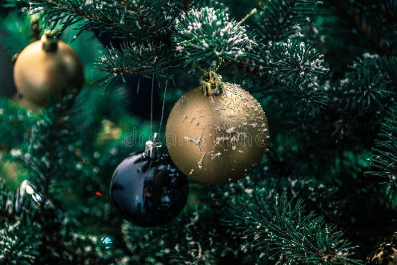 圣诞树的装饰 库存照片