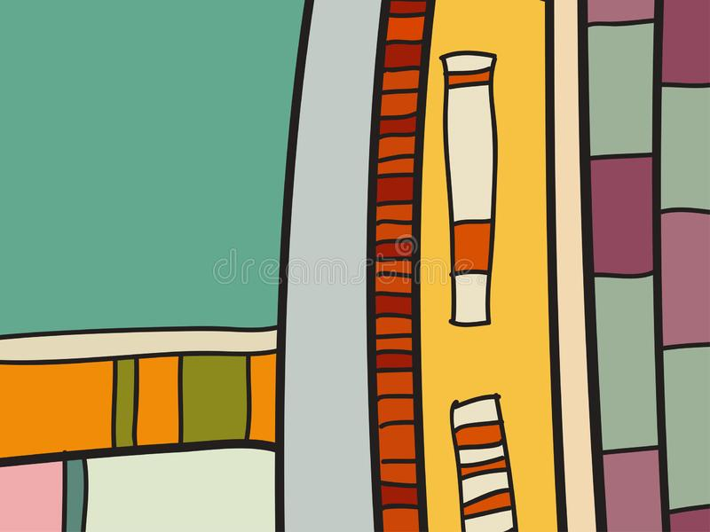 Wzorzec wektora abstrakcyjnego, czarno-białe doodły Tło plakatu, pocztówki, tła Ilustracja z formularzami abstrakcyjnymi ilustracja wektor