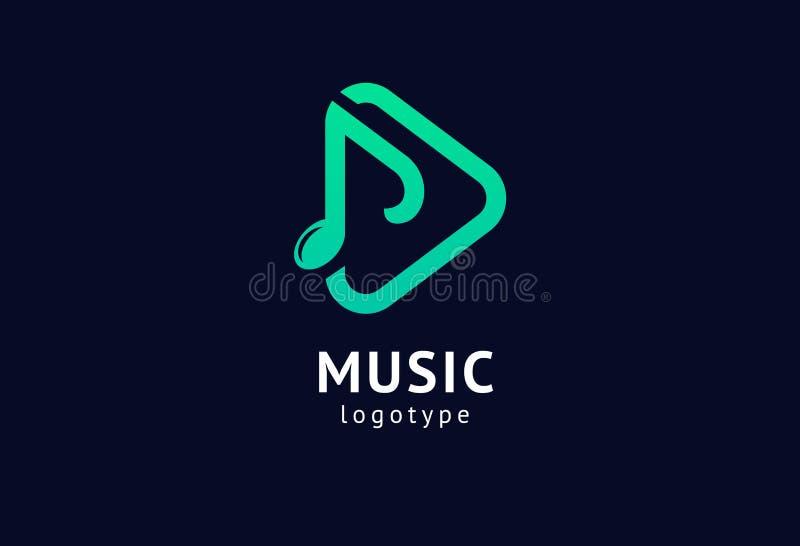 矢量图,图形设计说明Weblogotype 抽象音乐徽标图标矢量设计 录音室,晚会 向量例证