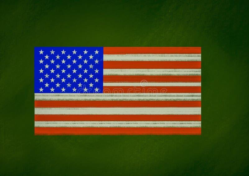 美国旗子 向量例证