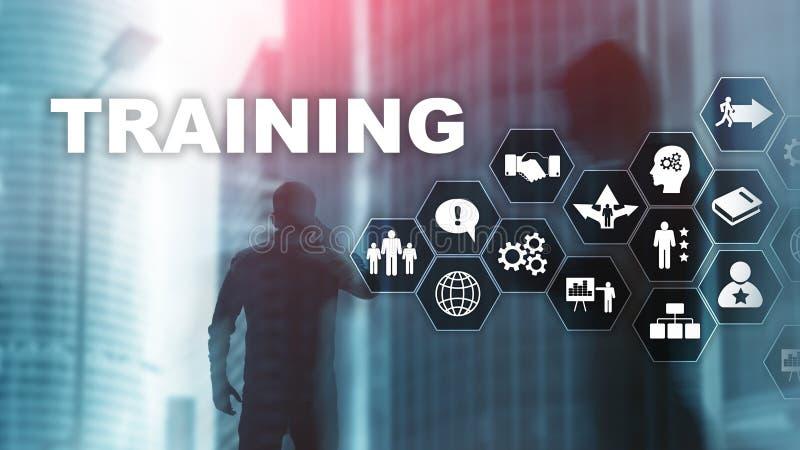 业务培训概念 培训网络研讨会 金融技术和通信概念 皇族释放例证
