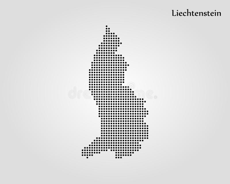 列支敦士登的地图 r E 皇族释放例证