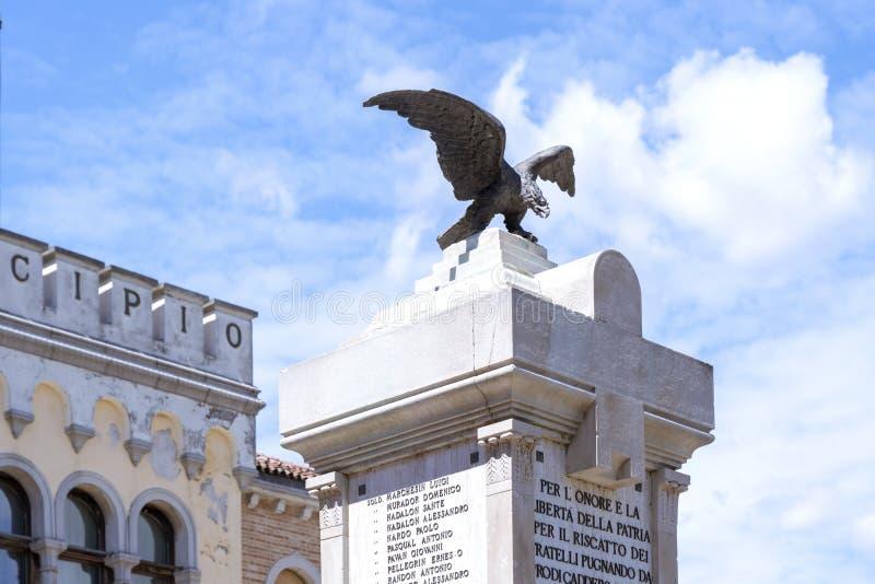Ceggia, San Dona di Piave, Veneza - Município de Ceggia Prefeitura italiana Câmara Municipal de Ceggia, perto de Veneza, em Itáli imagem de stock royalty free