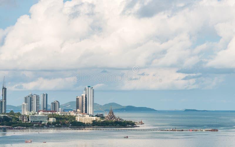 Mooi Stadsweergeven van Pattaya   stock fotografie