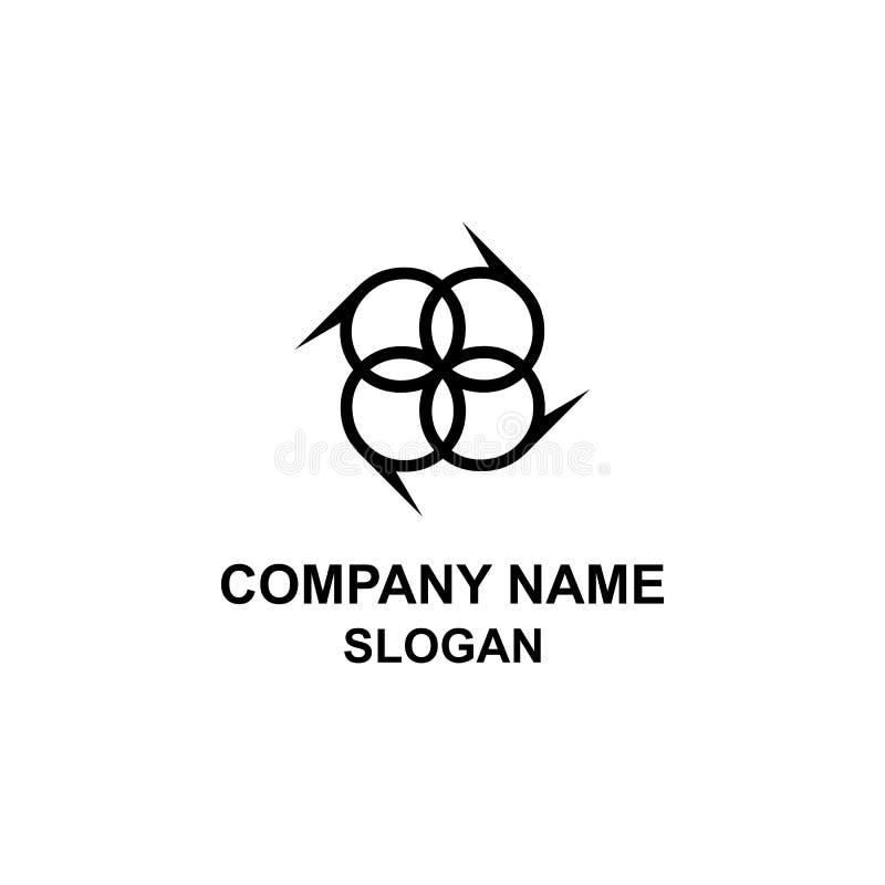 Logotipo da inicial da letra de P ilustração stock