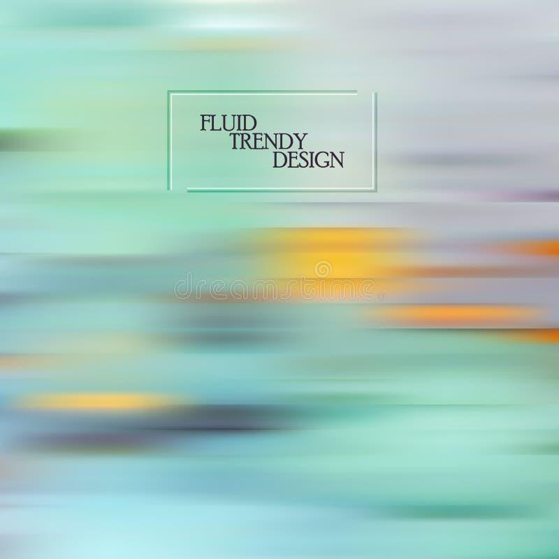 标题、活页和海报的抽象波浪背景 动态效果 矢量图 皇族释放例证