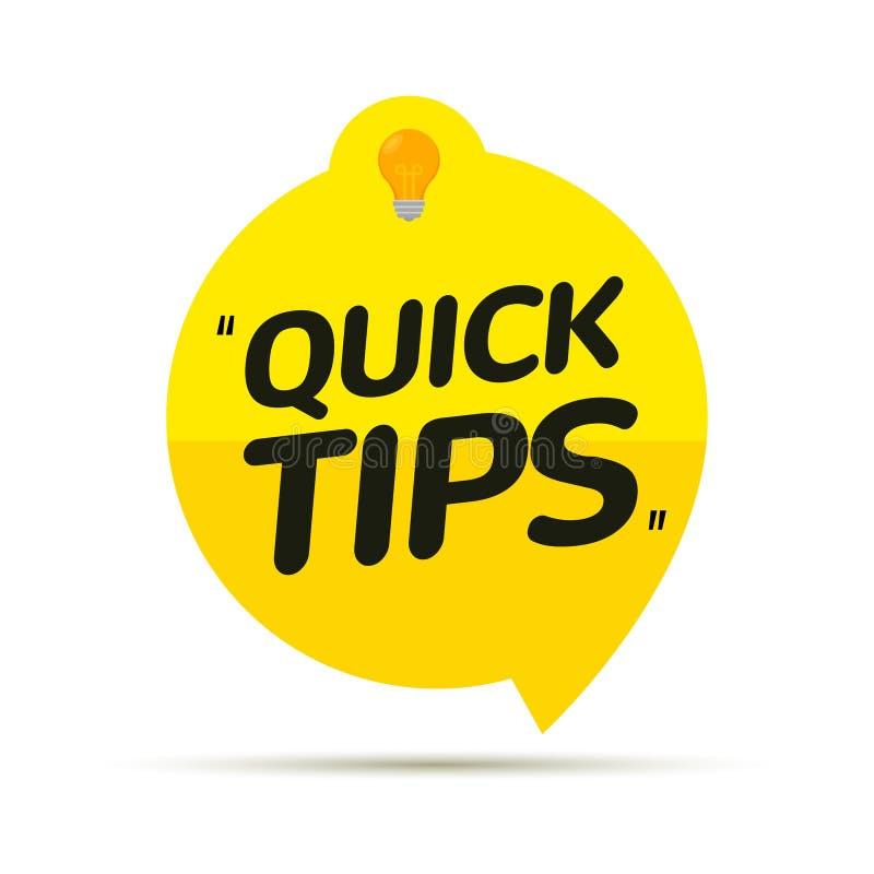 Icône d'icône Conseils rapides Icône de la note de conseil sur les conseils les plus importants Trucs d'éducation à l'aide d'idée illustration de vecteur