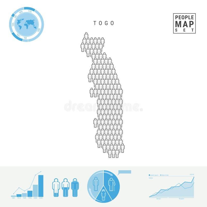 E r Bevölkerungszuwachs und Altern Infographics vektor abbildung
