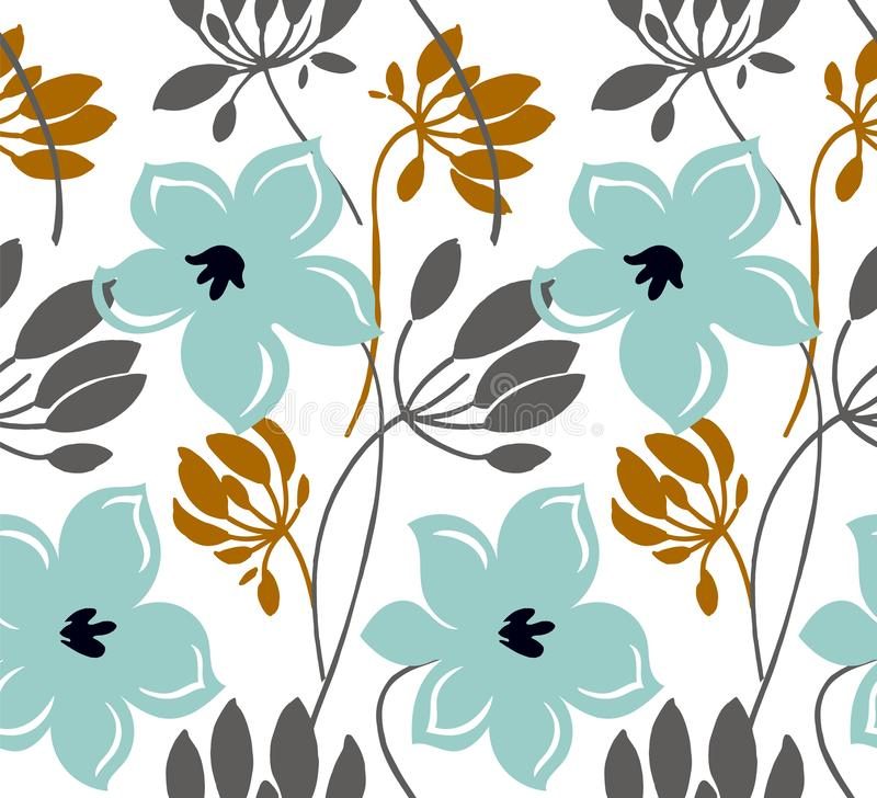 E r Blom- textur f?r skandinavisk stiltecknad film royaltyfri illustrationer