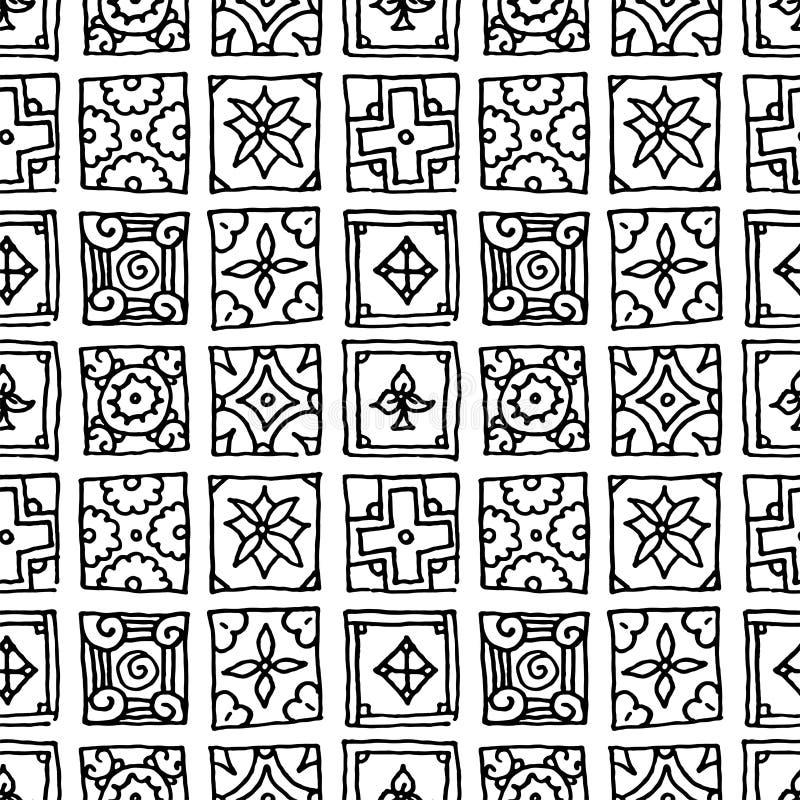 Patrón transparente de mosaicos de grano Elementos de diseño decorativos clásicos islámicos, árabes, indios y otomanos Motivos di ilustración del vector