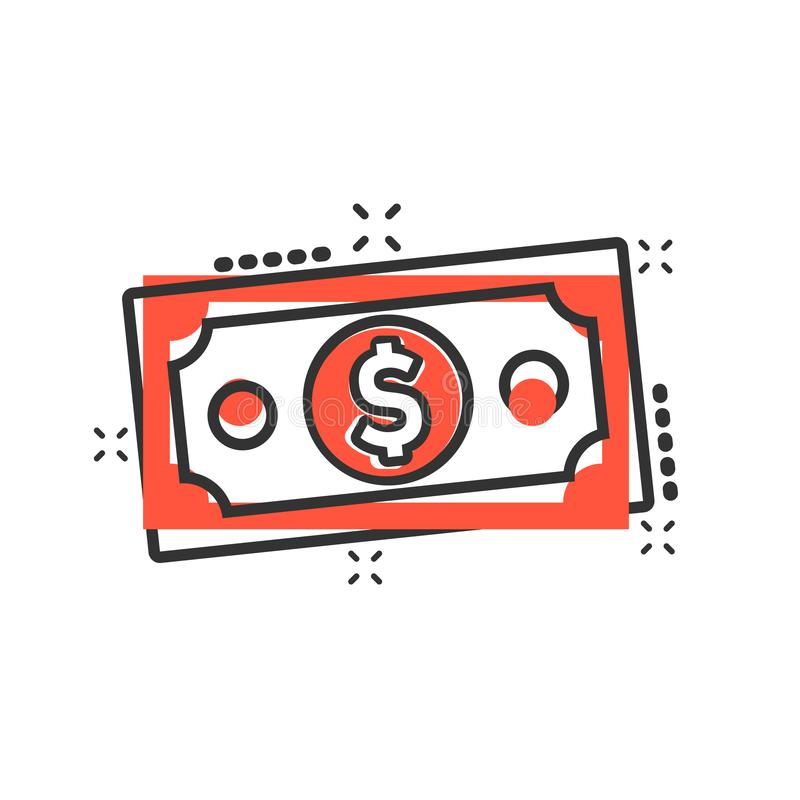 E r Concept d'affaires de facture de billet de banque illustration libre de droits