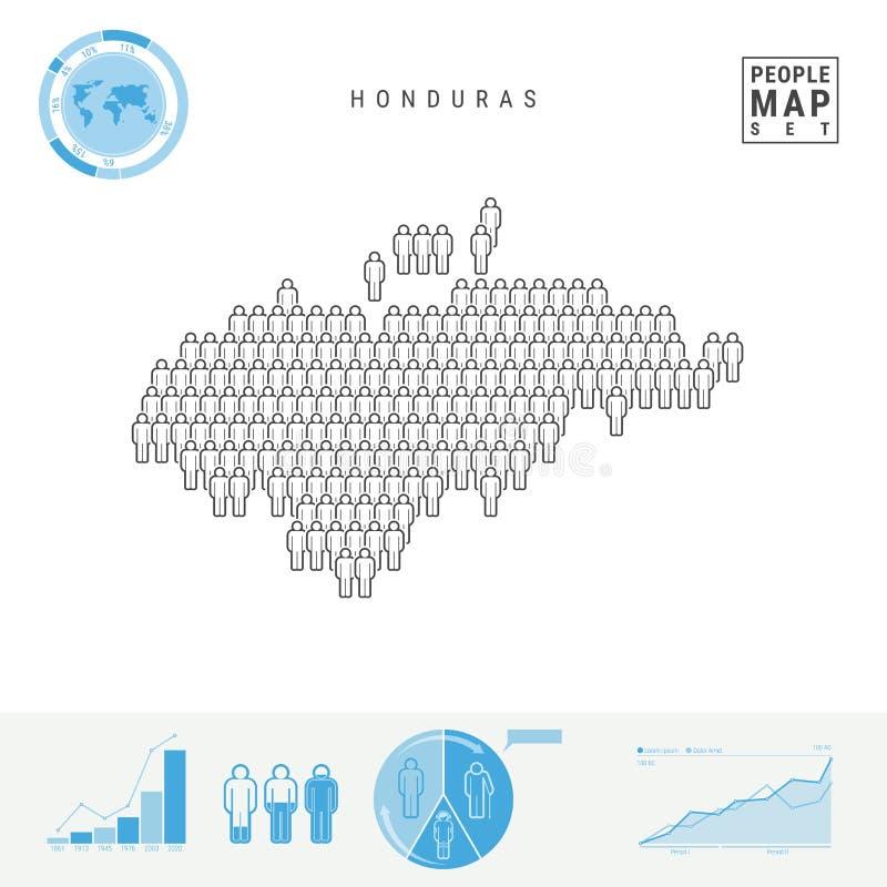 E r Crescimento demográfico e envelhecimento Infographics ilustração stock