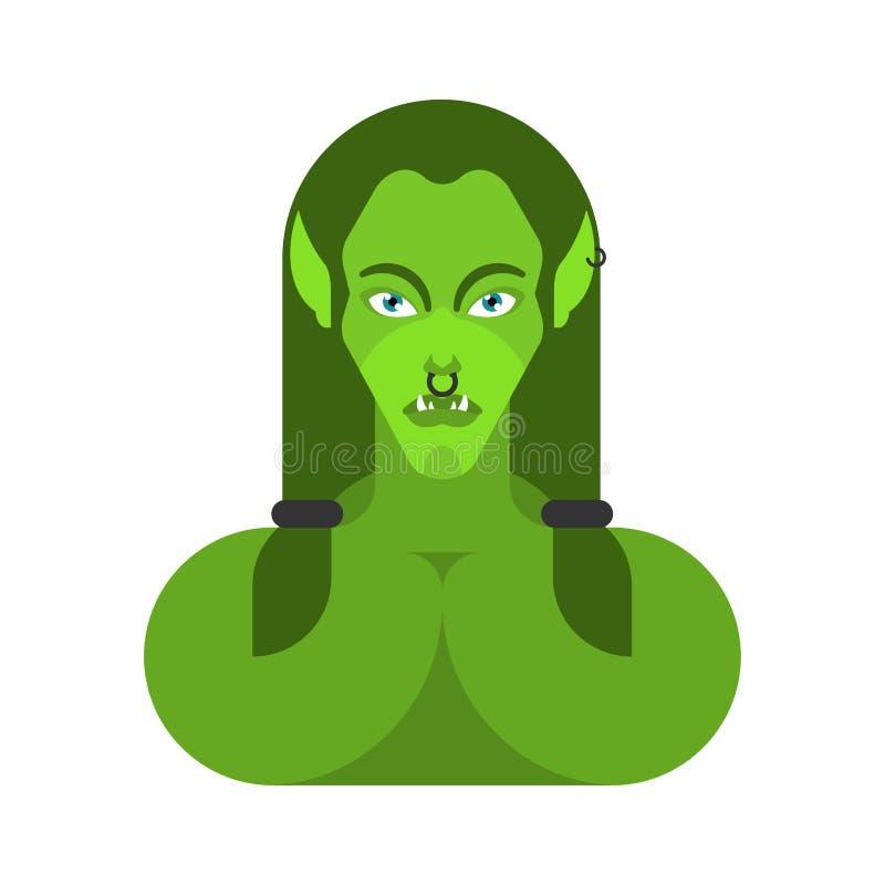 E r dame enragée Troll illustration de vecteur