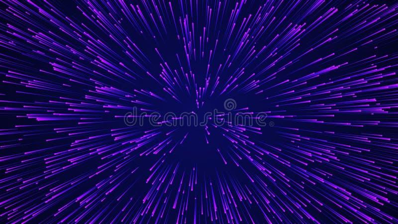 Abstracte cirkelsnelheid achtergrond Dynamisch lijnpatroon doorbreken Abstract gegevensstroomachtergrond 3D-rendering royalty-vrije illustratie