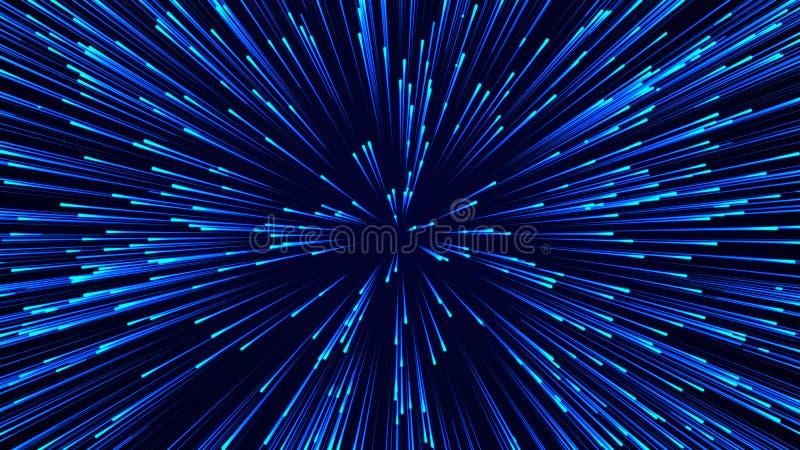 E r De abstracte achtergrond van de gegevensstroom het 3d teruggeven vector illustratie
