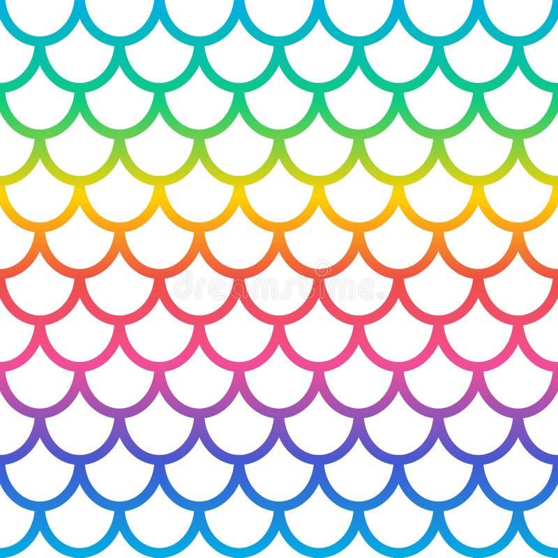 Rainbow mermaid naadloos patroon Achtergrond holografische mermaid Achtergrond visschaal Vector vector illustratie