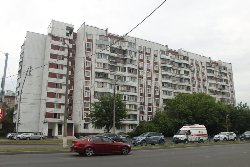 Korolyov går Kostino område Dzerzhinsky gata Gorky gata royaltyfri foto