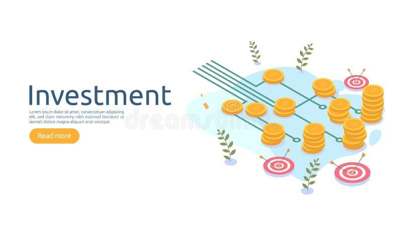 concepto de gestión o rentabilidad de las inversiones estrategia empresarial en línea para el análisis financiero ilustración vec libre illustration