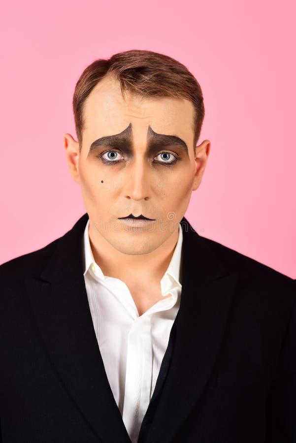 E. r. r. El imitar del actor del teatro. Actor de etapa fotos de archivo