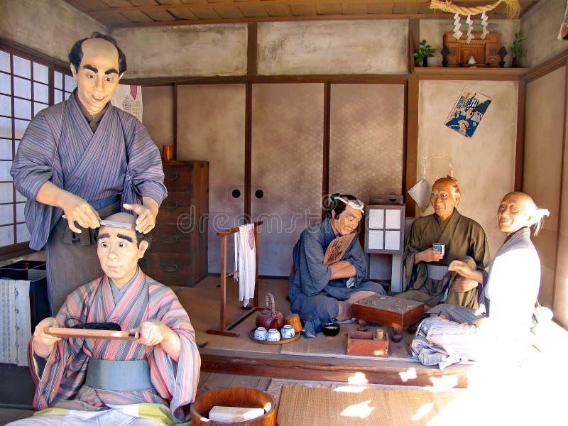 Dans le village historique de Samurai de la dynastie Edo Ici a recréé le village japonais du Moyen Âge Lieu visité image libre de droits