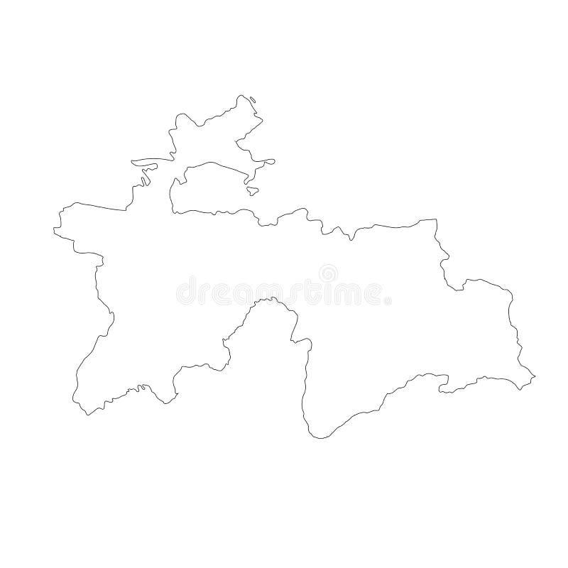 传染媒介地图塔吉克斯坦 r r 免版税库存照片